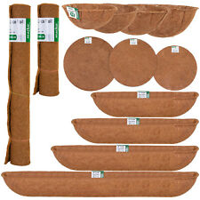 More details for hanging basket coco liners moulded natural fibre plant garden roll replacement