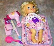 Hasbro Baby Alive Beautiful Now 2011 Retired Blonde Doll With Accessories