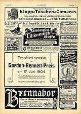 Gordon- Bennett- Preis Saalburg Brennabor Fahrräder Brandenburg Weck- Gläser1904