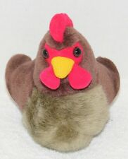 2006 K&M TOYS ROOSTER CROWING FARM ANIMAL CHICKEN PLUSH DOLL GUC