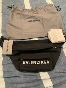 Balenciaga Black Nylon Waist Belt Bag Fanny Pack