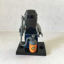 Lego WELDER MINIFIGURE Collectible Series 11 #71002 Helmet Torch Genuine