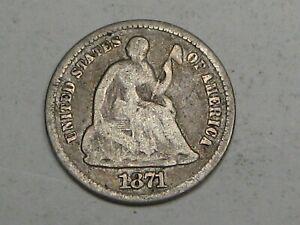 1871 Seated LIBERTY Half Dime.  #23