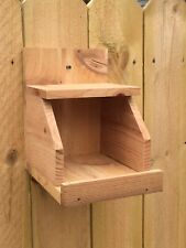 CEDAR Robbin Cardinal Dove Nesting Box Bird House Nesting Ledge Nesting Shelve
