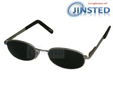 Modern High Quality Sunglasses Dark Tinted Lens Silver Spring Loaded Arms CL021