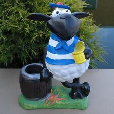 Dekofigur Schaf Molly zum Bepflanzen Garten Terrasse Gartenfigur Deko maritim