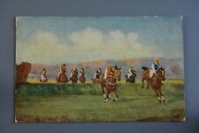 R&L Postcard: Tuck Oilette Steeplechasing S3 Into the Straight Horse Racing
