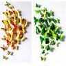12 PCS 3D Schmetterlinge Butterfly Wand Tattoo Wandsticker Wanddeko 4 Farbe Lila