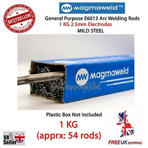 1KG 2.5mm WELDING ARC E6013 RODS ELECTRODES MILD STEEL GENERAL PURPOSE MAGMAWELD