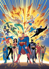 BRUCE TIMM rare GUARDIANS OF JUSTICE Signed litho PAPER JLA Unlimited WB COA!