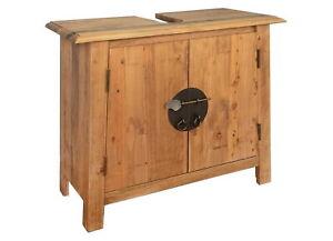Under Sink Cabinet Solid Wood Bathroom Storage Unit Vanity Toilet Vintage Style