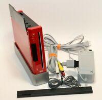 Nintendo Wii Console GAMECUBE COMPATIBLE Sensor Bar Cords RVL-001(USA) RED/BLACK