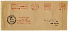 GB WEMBLEY PHILATELIC EXHIBITION METER FRANKING 1955 to R C ALCOCK...LION CACHET
