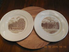Two (2) Wedgwood Old London Views Plates.Staple Inn & Middle Temple Hall