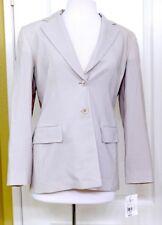 NWT Emanuel Ungaro Women's Sz 10P Wool Blend Beige 2-Button Blazer $ 395 Ret MS
