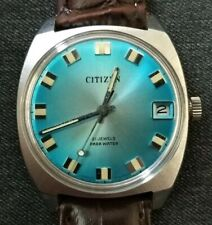 NOS Citizen vintage watch, new old stock, stunning blue dial