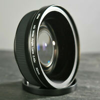 Weitwinkel Objektiv 8mm HD für Nikon 35mm f1,8 - 50mm f1,8 und 18-55mm 52mm