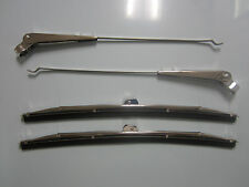 1955 1956 1957 Chevrolet Car Wiper Arm & Blade Set 4pc Bel Air 150 models 210