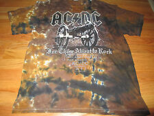 """Ac Dc """"For Those About To Rock"""" (Xl) T-Shirt """"We Salute You!"""" Tie-Dye"""