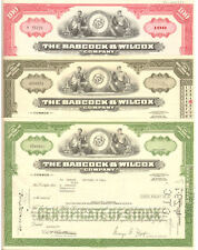 Set of 3 > Babcock & Wilcox Company > B&W stock certificates