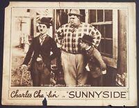 SUNNYSIDE 1919 CHARLES Charlie CHAPLIN Silent Film Comedy ORIG. MOVIE LOBBY CARD
