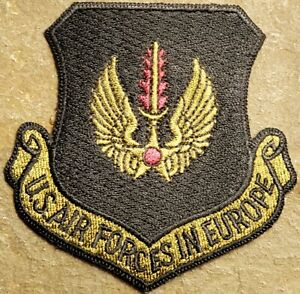 """3/"""" round Embroidered Lot of 2 ea US Military TWO USAF Air Force Retired Patches"""