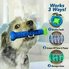 Chew Toy Dog Toothbrush Pet Molar Tooth Cleaning Brushing Stick Puppy N9Y4