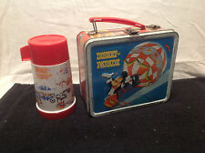 DISNEY ON PARADE VINTAGE METAL LUNCH BOX WITH THERMOS BY ALADDIN 1970'S