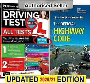 2021 Driving Theory Test & Hazard CD DVD Rom + Official  Highway Code Book
