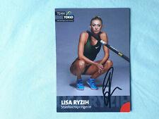 Handsignierte Autogrammkarte Lisa Ryzih Leichtathletik 10x15
