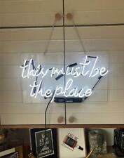 """This Must Be the Place Neon Light Sign 20""""x12"""" Acrylic Lamp Beer Real Glass Bar"""