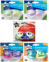 Tommee Tippee Essential 2x Cherry Latex Soother 0-6 / 6-18