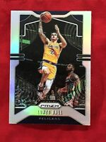 LONZO BALL (SILVER PRIZM) 2019-20 PANINI PRIZM - PELICANS WITH A LAKERS UNIFORM