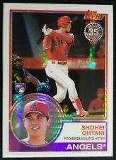 2018 Topps Silver Pack Shohei Ohtani 1983 Chrome Rookie Card #145