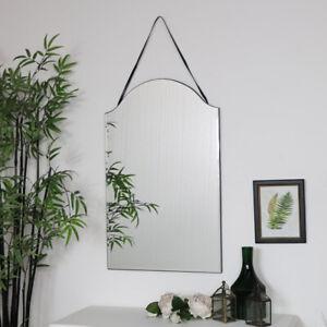 Arched Frameless Wall Mirror vintage art deco shabby chic bedroom bathroom decor