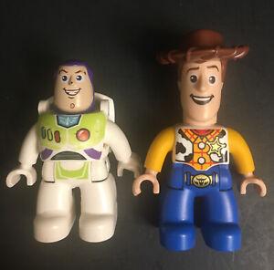 Lego Duplo Disney Pixar Toy Story Woody & Buzz Lightyear Mini Figures Lot