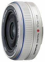 Olympus Pancake Lens M.Zuiko Digital 17Mm F2.8 Silver Digital Camera