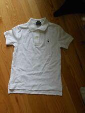 NWT - Polo Ralph Lauren short sleeved white polo shirt w/navy logo - 6 boys