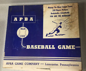 APBA Baseball Complete 1957 Game W/player Cards American,National League