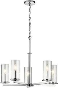Kichler Crosby 5 Light Brushed Nickel 43999NI - Chandeliers Indoor Lighting