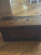 E C Simmons Antique Wood Storage Box With Drawers