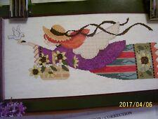 vintage FOLK ART ANGEL counted cross stitch kit 1996