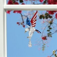 Woodstock Chimes Fantasy Glass - Eagle Liberty -Swarovski Crystal Celib