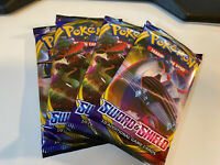 4x Pokemon Booster Pack - Sword and Shield Base Set