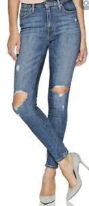 Levi's 721 Blue High Rise Skinny Jeans
