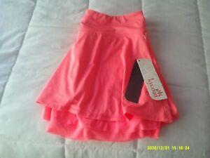 "Kyodan Women's Fitness Tennis Skort| BNWT| Medium| Neon Orange-Pink| Length: 15"""