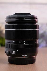 Fujifilm 18-55mm f2.8-4 R LM OIS XF Fujinon Black Lens w/Caps