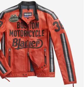 Blauer USA Herren Lederjacke Bikerjacke Motorradjacke KEMP Größe XXL - Neu!