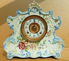 Ansonia Dresden Extra Porcelain Mantle Clock