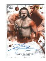 WWE Drew McIntyre 2018 Topps Undisputed Orange On Card Autograph SN 43 of 99